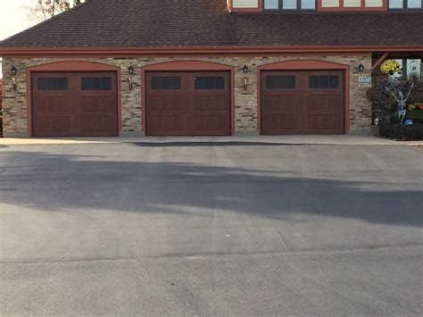 Wayne Dalton Fiberglass 9800 Sonoma Panel Stained Sonoma Overhead Doors