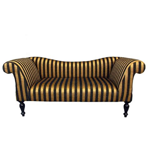 gold striped sofa items similar to gold and black stripe chaise sofa on etsy