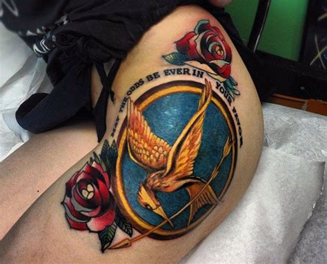hunger games tattoos amazing hunger tattoos