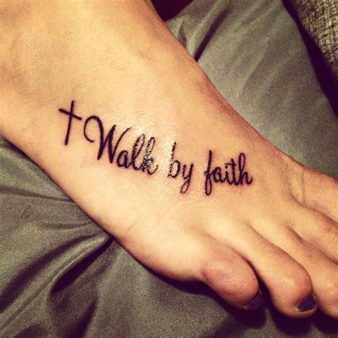 cross foot tattoos faith cross tattoos
