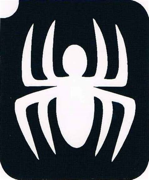 spider stencil for face painting clipart best