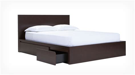 simple bed w panel headboard eq3 modern furniture