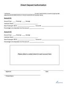 Direct Deposit Form Template by Checking Account Applications Printable Application