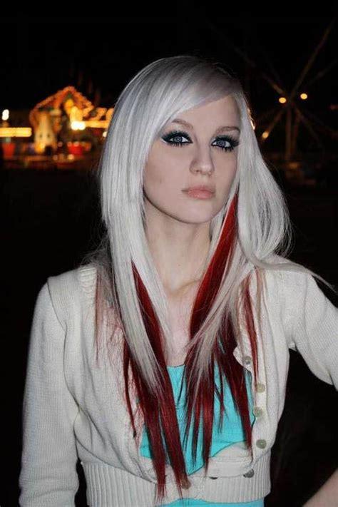 my blonde hair with dark red underneath hair pinterest blonde with underdye red the latest trends in women s