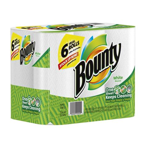 What Makes Paper Towel Absorbent - bounty white paper towels 6 rolls 003700028572 the