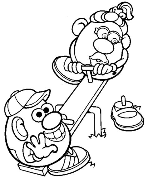 mr potato head coloring pages coloringpagesabc com