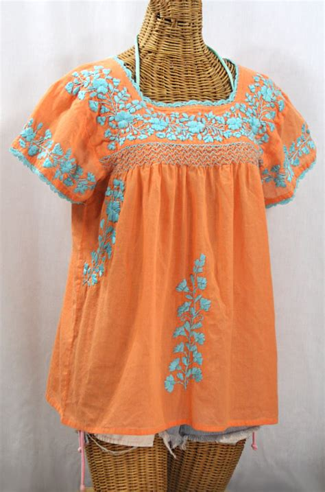 Blouse Siren mexican blouses embroidered vintage style peasant