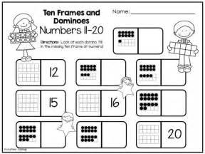 ten frame worksheets kindergarten great new freebie
