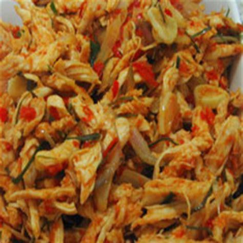 resep  membuat ayam suwir pedas resep  membuat