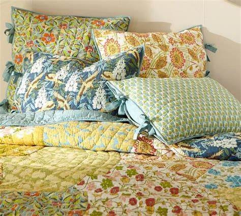 Next Patchwork Bedding - scalloped organic patchwork quilt sham pottery barn
