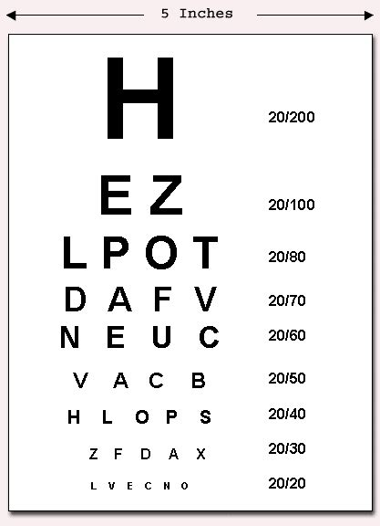printable vision screening chart vision test chart printable
