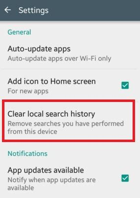 clear history on android phone how to clear play store search history android