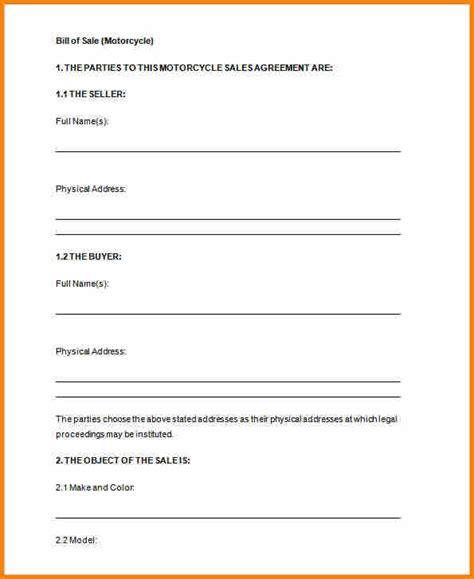 simple bill of sale 8 free printable bill of sales simple bill
