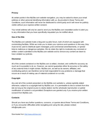 How To Write Terms And Conditions With Sle Terms And Conditions Forum Terms Of Use Template