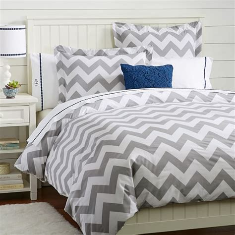 gray chevron bedding pottery barn teen chevron duvet cover and sham decor