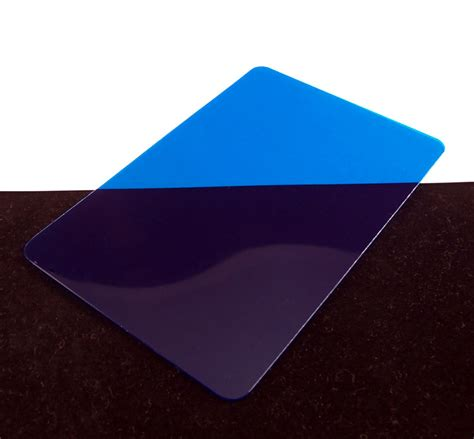 Blue Translucent Colored Plastic Sheet For Customizing Colored Plastic Sheets