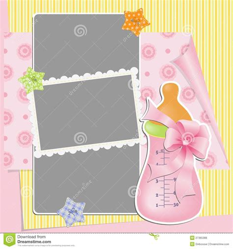 Cute Template For Baby S Card Royalty Free Stock Photos Image 27365388 Baby S Card Template