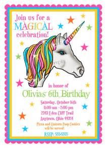 unicorn invitations unicorn birthday party magical