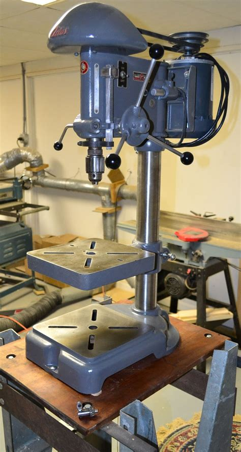 atlas drill press woodworking antique tools garage