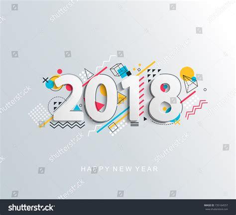 modern new year vector design modern creative new 2018 year design stock vector