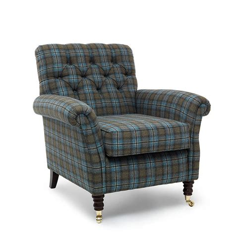 tartan armchairs chatsworth tartan foxwood armchair by within home