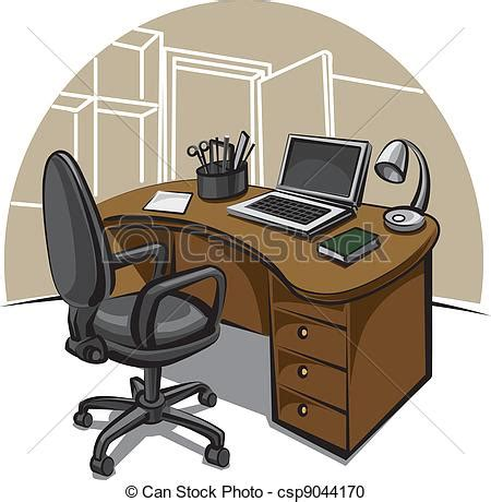 bureau clipart vector clipart of office work place csp9044170 search