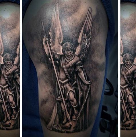 archangel michael tattoo designs 75 st michael designs for archangel and prince