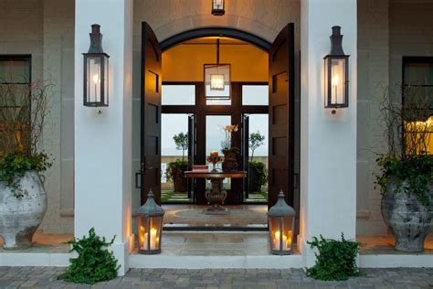 orleans gas lights contemporary entry  arched