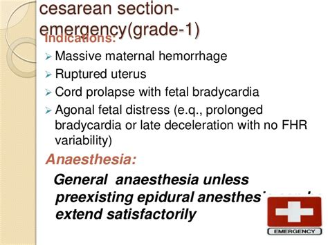 c section no anesthesia class anaesthesia for emergency cs