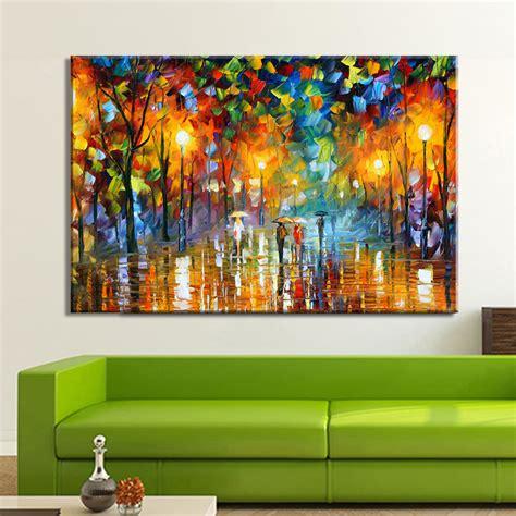 tree modern canvas art wall decor landscape oil painting 100 hand painted landscape oil painting lovers in street