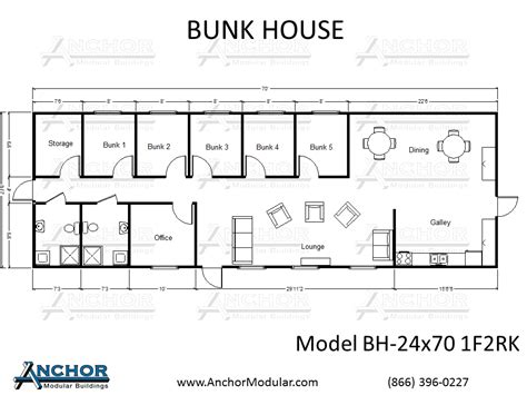 bunkhouse trailer floor plans custom modular building floor plans