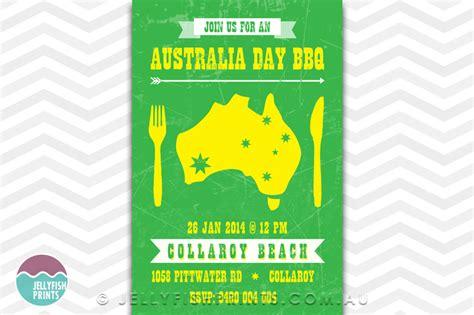 free printable birthday invitations australia australia day bbq invitation jellyfish prints