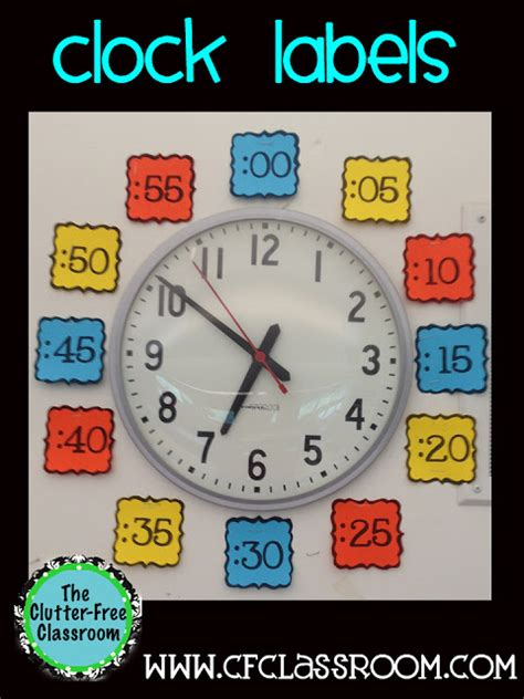 printable clock labels for classroom clutter free classroom classroom clock labels classroom 360