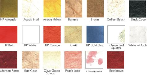Types Of Handmade Paper - paper scrapbook materials