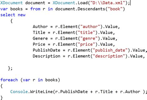 c xml tutorial linq reading xml file through linq a few tips