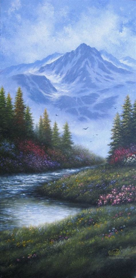 mountain landscape paintings mountain landscape painting vickie wade