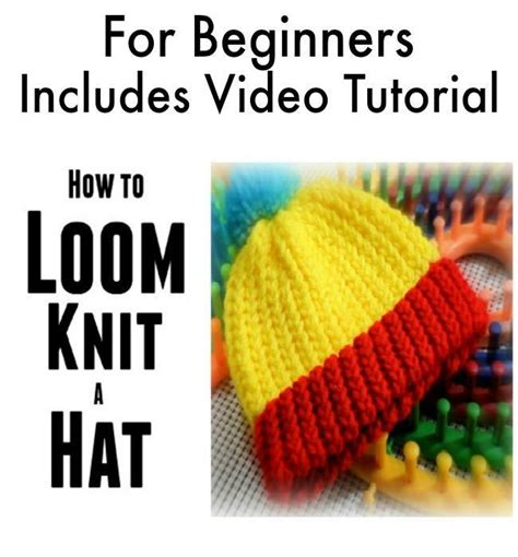 knitting basics for beginners pdf loom knit a hat for beginners w by canela