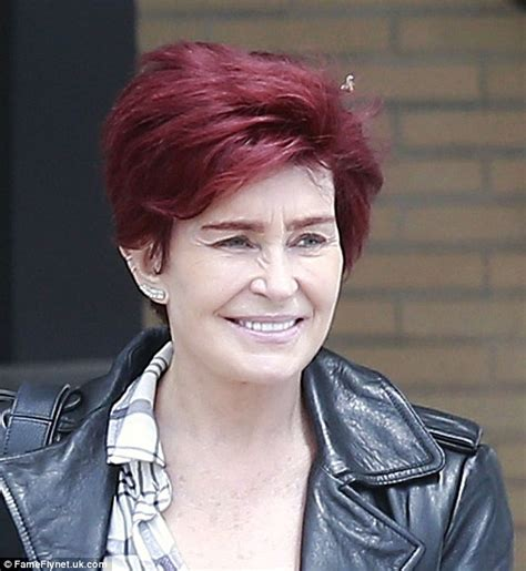 what does sharon ozbournes hair look like in the back sharon osbourne looks youthful in a leather jacket as she