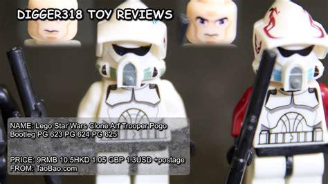 Bootleg Lego Starwars Finn Trooper lego wars clone arf trooper pogo bootleg pg 623 pg 624 pg 625 review