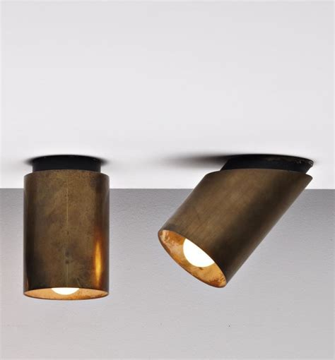 pin spot track lighting jacques quinet brass and enameled brass ceiling lights