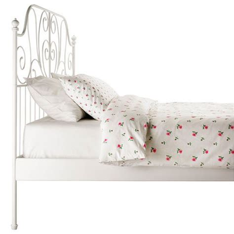 ikea white metal bed frame ikea leirvik bed frame white queen size iron metal country