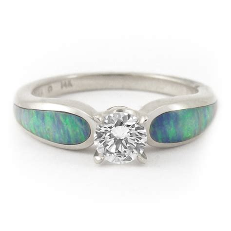 quot moonlit sea radiance quot 5ct and opal engagement ring