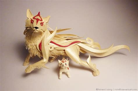 Amaterasu Papercraft - amaterasu is already beautiful the papercraft is just to