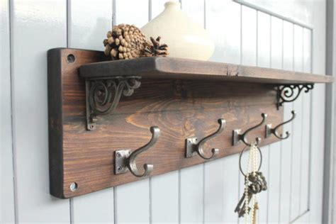 Wall Mounted Coat Hooks With Shelf by Furniture Amusing Wall Mounted Coat Rack With Shelf Ideas