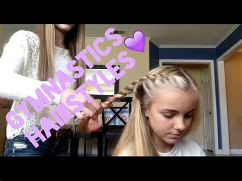 how to wear short hair for gymnastic meet gymnastics hairstyles youtube