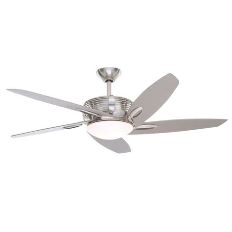 escape 68 in brushed nickel indoor outdoor ceiling fan home decorators collection kensgrove 72 in led indoor