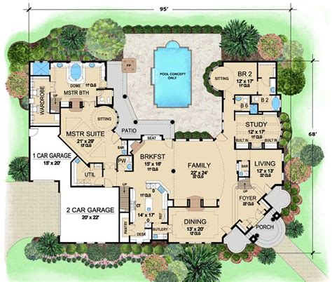 Mediterranean Style House Plans 5889 Square Foot Home Mediterranean House Plans Without Garage