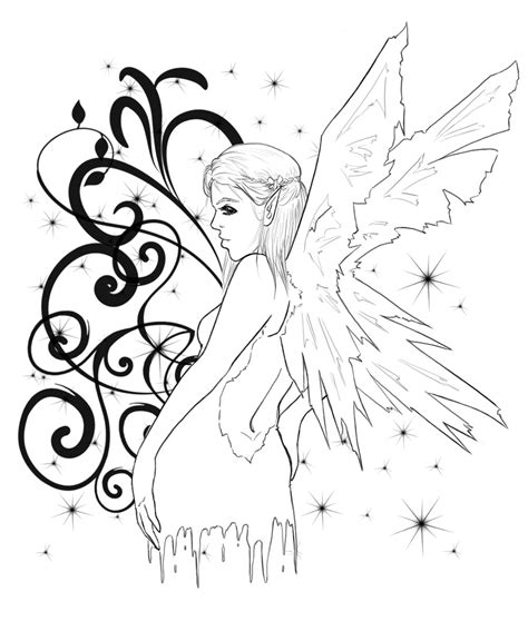 naughty fairy tattoo designs baby wings tattoos coloring pages