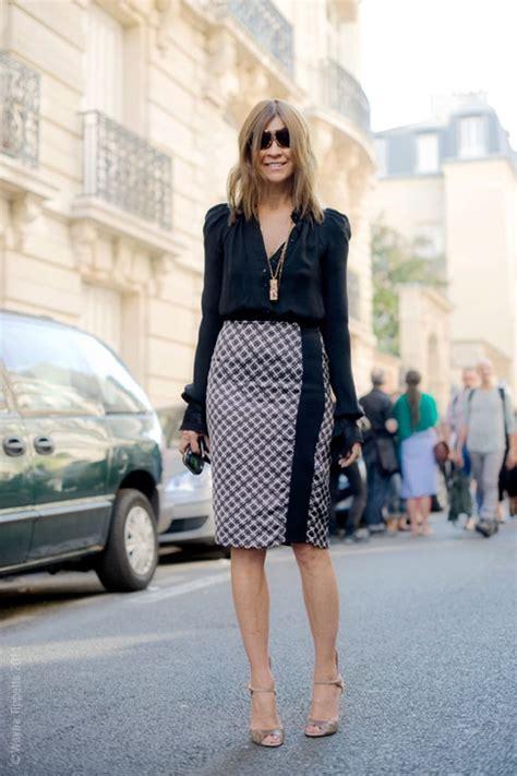 carine roitfeld and cool pencil skirt fashiononrock