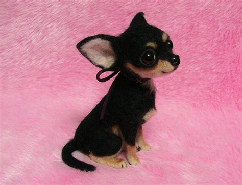 black chihuahua puppies needle felted chihuahua puppy black miniature